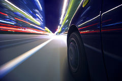 Condução da cidade da noite Imagem de Stock