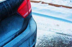 Condução da estação do inverno fotos de stock