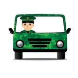 Condução das forças armadas do carro Foto de Stock