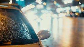 Condução das luzes e de carros da cidade no fundo do tráfego vídeos de arquivo