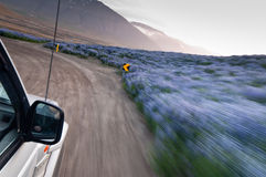 Condução de carro Off-road louca rapidamente fotos de stock royalty free