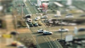 Condução de carros, deslocamento da inclinação em Bucareste vídeos de arquivo