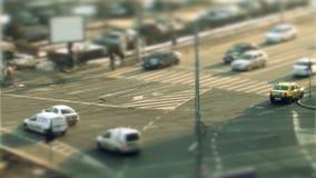 Condução de carros, deslocamento da inclinação em Bucareste filme