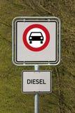 Condução do diesel proibida Imagem de Stock Royalty Free