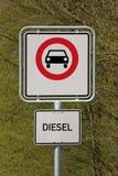 Condução do diesel proibida Imagens de Stock