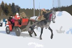 Condução em um cavalo Imagens de Stock