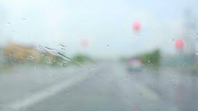 Condução na chuva vídeos de arquivo