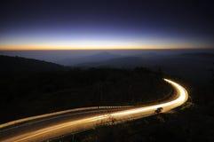 Condução na noite Foto de Stock