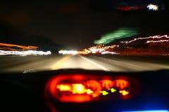 Condução na noite Imagem de Stock Royalty Free