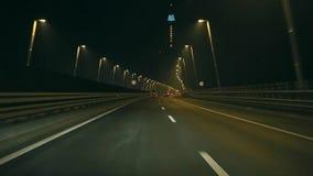 Condução na noite video estoque
