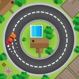 Condução nos círculos ilustração stock