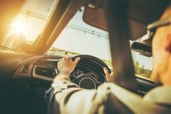 Conducción abajo de la carretera Imagenes de archivo