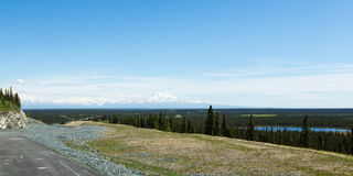 Conducción al Wrangells Fotografía de archivo libre de regalías