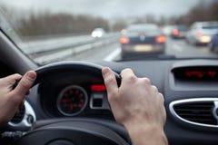 Conducción con seguridad Fotografía de archivo libre de regalías