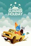 Conducción con vacaciones de verano Imagenes de archivo