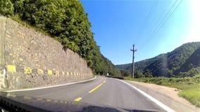 Conducción de automóviles, timelapse almacen de metraje de vídeo