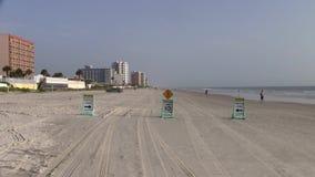 Conducción de carriles en Daytona Beach almacen de video