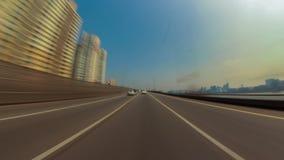 Conducción de la ciudad de Seul almacen de metraje de vídeo