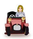 Conducción de la muchacha Foto de archivo
