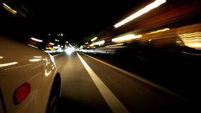 Conducción de la noche almacen de metraje de vídeo