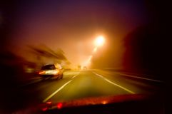 Conducción de la noche Fotografía de archivo