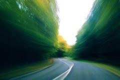 Conducción de la velocidad Foto de archivo libre de regalías