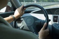Conducción de la velocidad (Nissan) imagenes de archivo