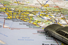 Conducción de Los Ángeles Foto de archivo