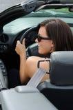 Conducción de mi coche Foto de archivo libre de regalías