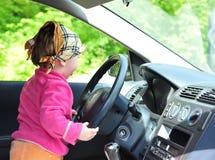 Conducción de un coche Fotos de archivo