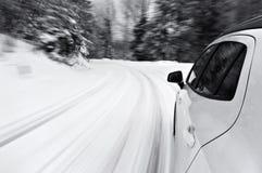 Conducción de un coche Foto de archivo libre de regalías