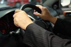 Conducción de un coche Fotografía de archivo libre de regalías