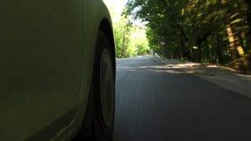 Conducción de un coche en la Rusia almacen de metraje de vídeo