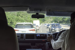 Conducción de una opinión de Car Fotografía de archivo libre de regalías