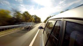 Conducción de una opinión de Car Lapso de tiempo almacen de metraje de vídeo