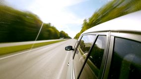Conducción de una opinión de Car Lapso de tiempo metrajes