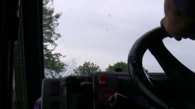 Conducción del camión o de van driver metrajes