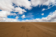 Conducción del camino del desierto Imagen de archivo libre de regalías