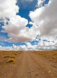 Conducción del camino del desierto Imágenes de archivo libres de regalías