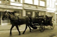 Conducción del carro del caballo Fotografía de archivo libre de regalías
