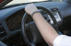 Conducción del coche foto de archivo
