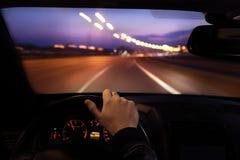 Conducción del coche Foto de archivo libre de regalías