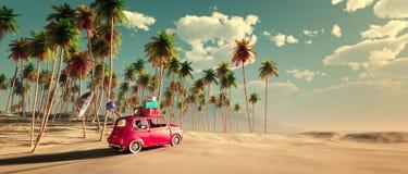 conducción del coche y del camino Foto de archivo libre de regalías