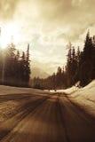 Conducción del invierno Fotografía de archivo