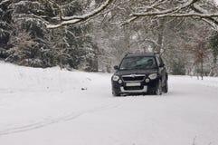Conducción del invierno. Imagen de archivo libre de regalías