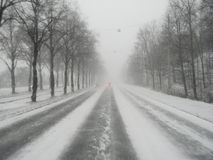 Conducción del invierno Imágenes de archivo libres de regalías