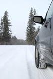 Conducción del invierno Imagen de archivo libre de regalías
