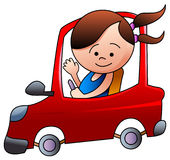 Conducción del niño Imágenes de archivo libres de regalías