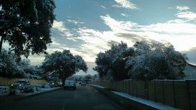 Conducción después de nieve Fotografía de archivo libre de regalías