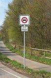 Conducción diesel prohibida Imagen de archivo libre de regalías